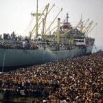 Loď La Vlora , 1991 ( https://it.wikipedia.org/wiki/Vlora_(nave) )