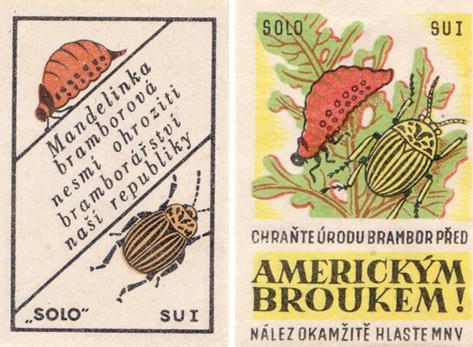 Zápalkové nálepky, 1947 a 1950