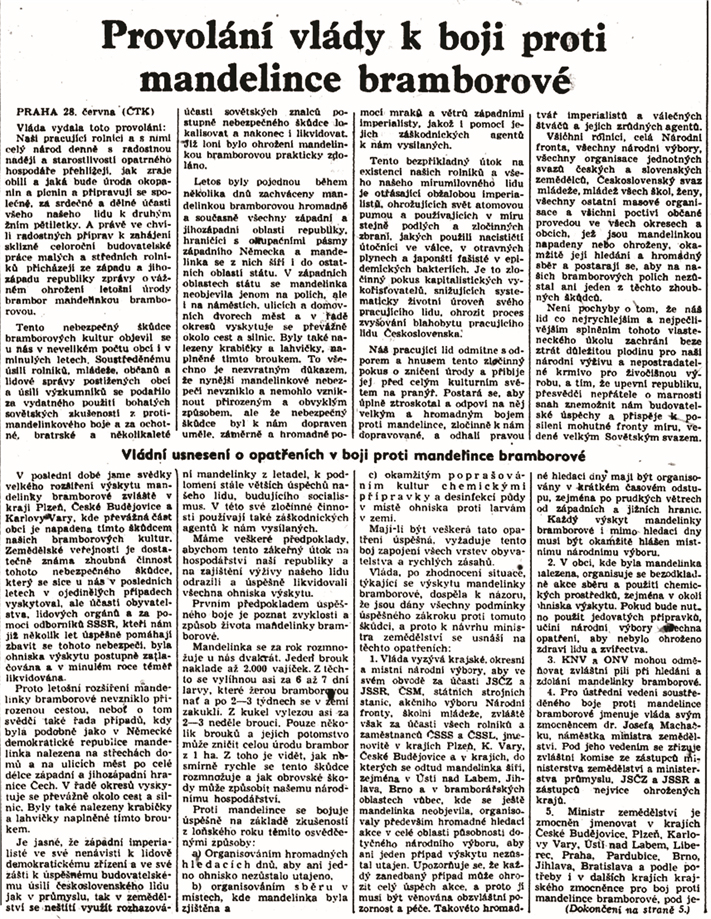 Rudé právo 29. června 1950