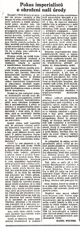 Rudé právo 30. června 1950