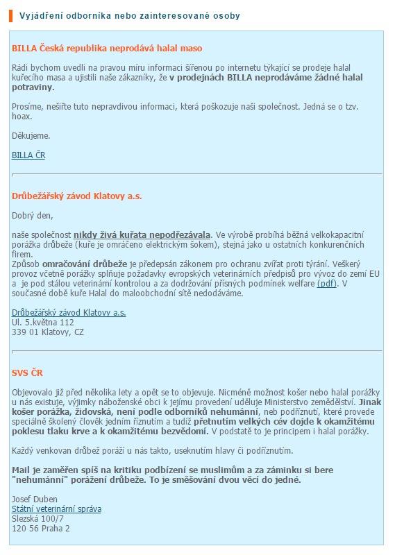 Printscreen z Hoax.cz