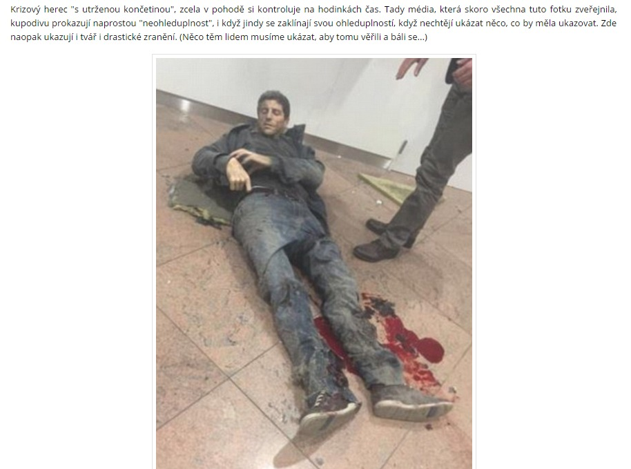 Tyto důkazy vás přesvědčí že bruselské útoky jsou opět uměle vytvořené tajnými službami k vyvolání strachu Svět kolem nás