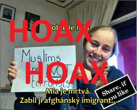 HOAX: Německá dívka napsala, že muslimové nejsou vrazi a pak ji zavraždil muslim z Afganistanu - Manipulátoři