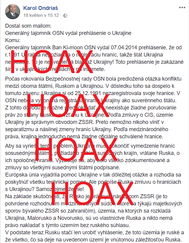 dezinformácie hoaxy propaganda