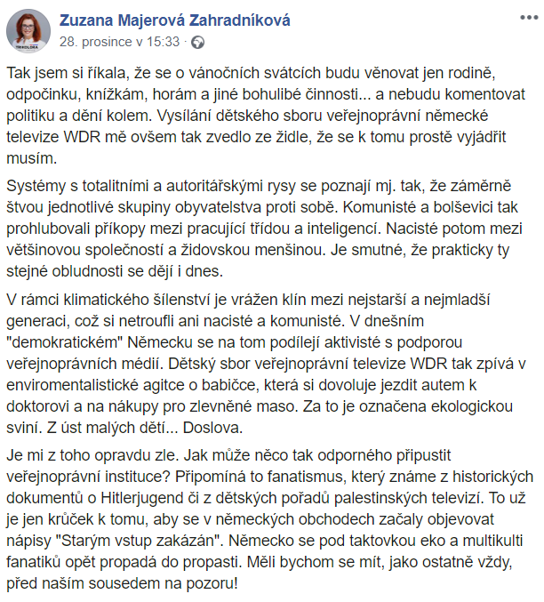 Trikolóra, Majerová Zahradníková a politická korektnost - Svoboda slova jenom někdy? - Manipulátoři